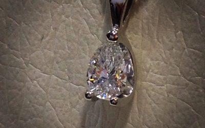 Beautiful GIA certificated Pear Shape diamond