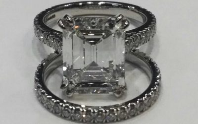 Emerald Cut Diamond Ring Set