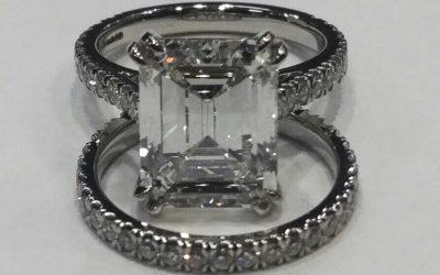 Emerald Cut Diamond Ring Set