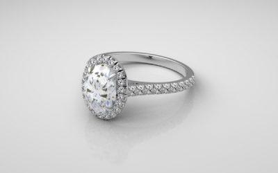 Platinum Handmade Halo Ring