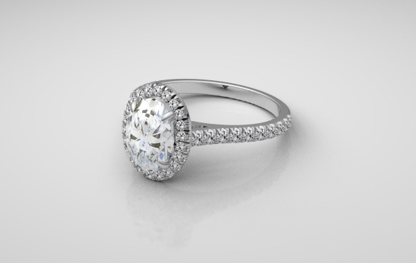 Platinum Handmade Halo Ring